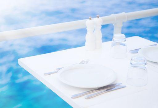 Romantic outdoor restaurant