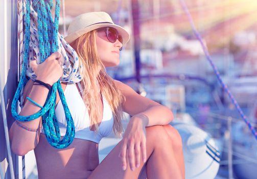 Young sexy sailor girl