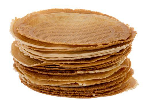 Pack of freshly waffle cookies
