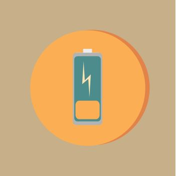 discharged battery.  symbol a discharged battery. icon energy