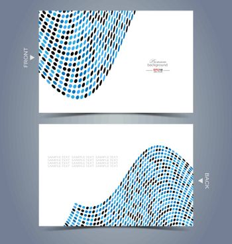 Elegant business card design template for creative design needs