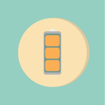 charged battery. symbol a charged battery. icon energy