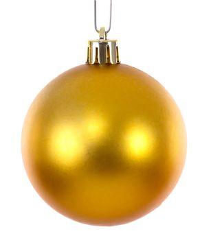 Golden christmas ball ornament