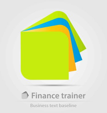 Finance trainer business icon for creative design work