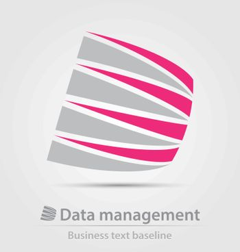 Data management service business icon for creative design work