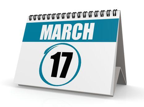 March 17 calendar