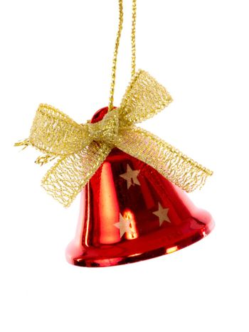 Red bell with golden ribbon