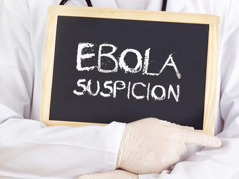 Doctor shows information: Ebola suspicion