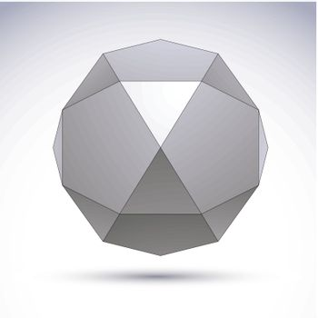 Vector abstract 3D object, design element template for technolog