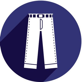 Jeans vector icon isolated.