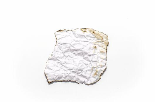 burn of crumpled paper