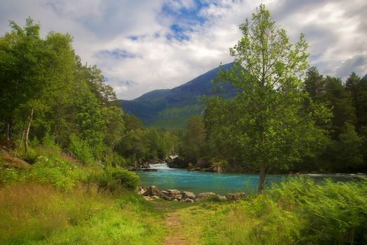 View of the beautiful nature of Stryn, Norway