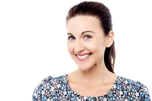 Attractive woman with bright smile