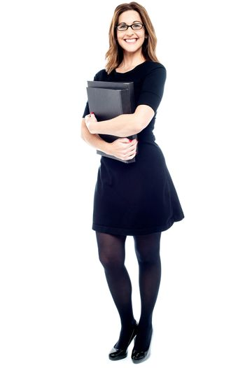 Corporate woman with folder