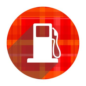 petrol red flat icon isolated