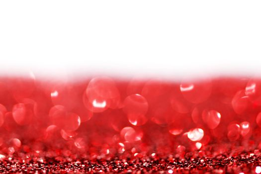 Red twinkling lights background