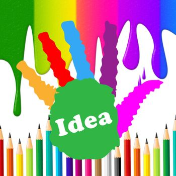 Kids Ideas Indicating Artwork Colour And Thoughts