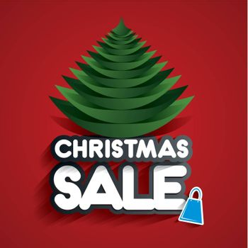 Christmas Sale Design On Background vector illustration