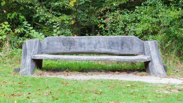 Unique bench in a park