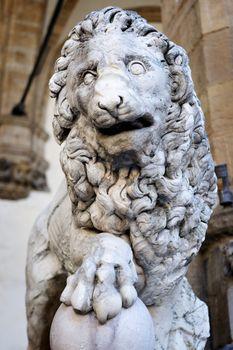 Lion sculpture Florence