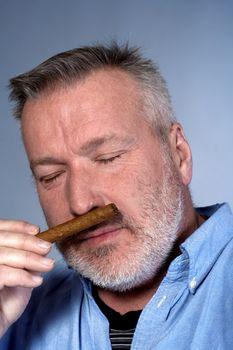 man with a cigar