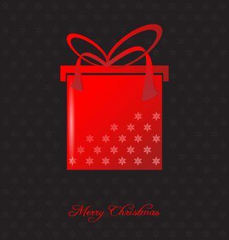 Elegant christmas background with christmas gift embellishment