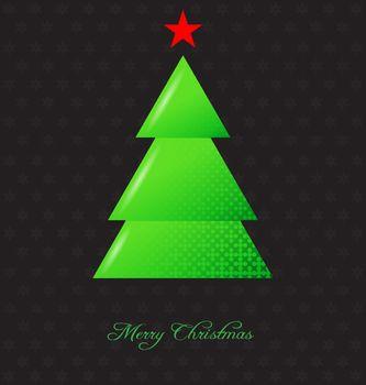 Elegant christmas background with christmas tree embellishment