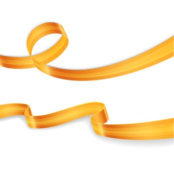 Vector illustration of Golden ribbons set image