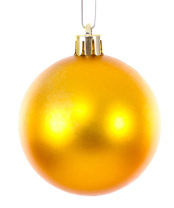 Golden christmas ball ornament brightened