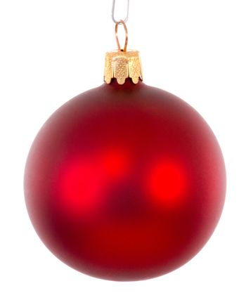 Red christmas ball ornament brightened