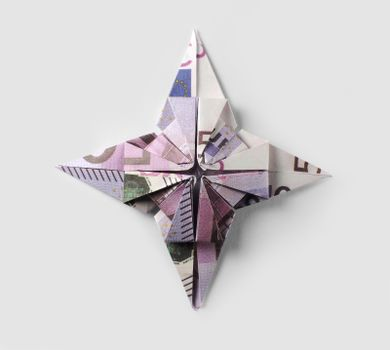 sign EU origami of five hundred euro banknotes