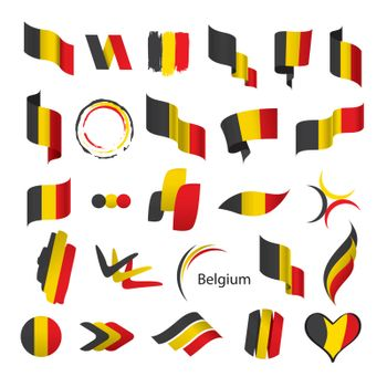 biggest collection of vector flags of Belgium