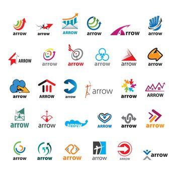 large set of vector logos arrow