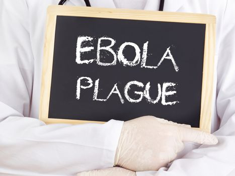 Doctor shows information: Ebola plague