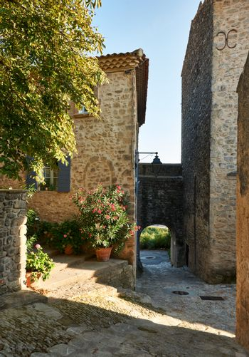 Street in Grambois, Provence