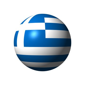Sphere with flag of Greece nation