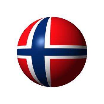 Sphere with flag of Norway nation