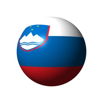Sphere with official flag of Slovenia nation