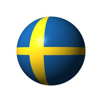 Sphere with flag of Sweden nation