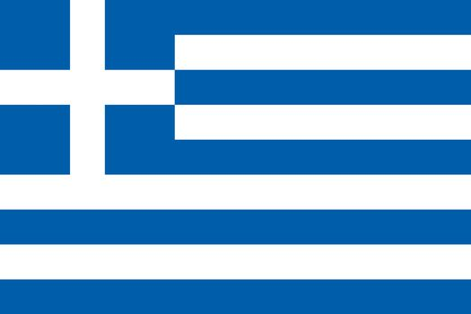 Official flag of Greece nation