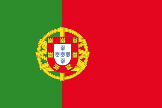 Official flag of Portugal nation