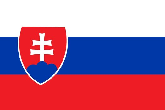 Official flag of Slovakia nation
