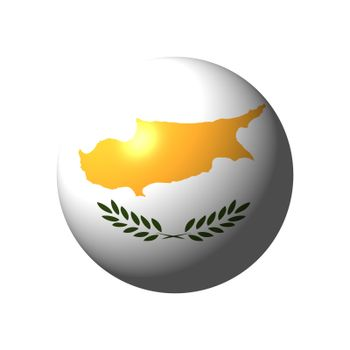 Sphere with flag of Cyprus nation