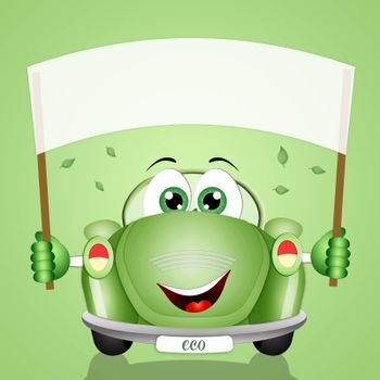 illustration of eco-car for the respect of the planet