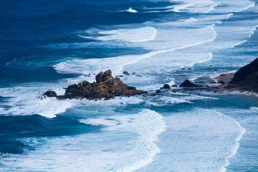 Atlantic ocean from Torre de Aspa viewpoint in Algarve, Portugal