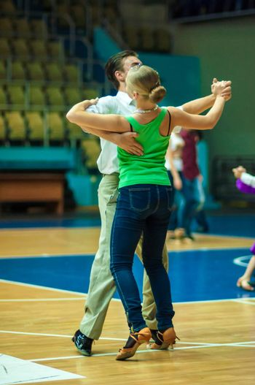 ORENBURG, ORENBURG region, RUSSIA, 3 October, 2014 year. Open Championship city of dancesport. Dancing couple