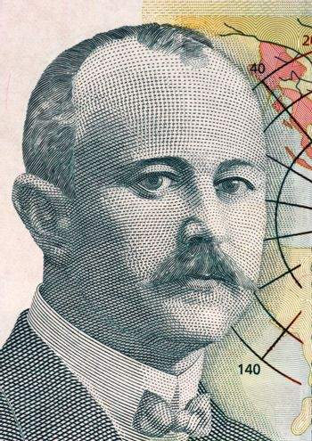 Jovan Cvijic (1965-1927) on 500 dinara 2012 banknote from Serbia. Serbian geographer, president of the Serbian Royal Academy of Sciences and rector of the University of Belgrade.