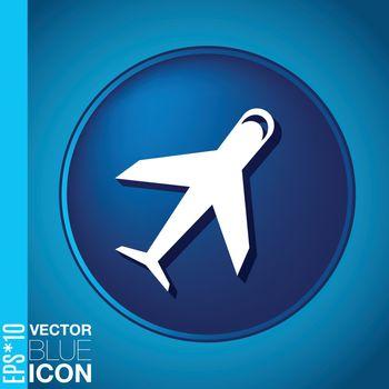 airplane symbol . icon of air travel