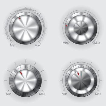 Metallic volume controllers