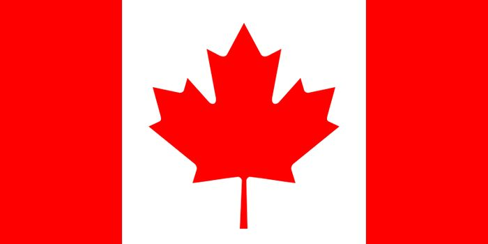 Official flag of Canada nation